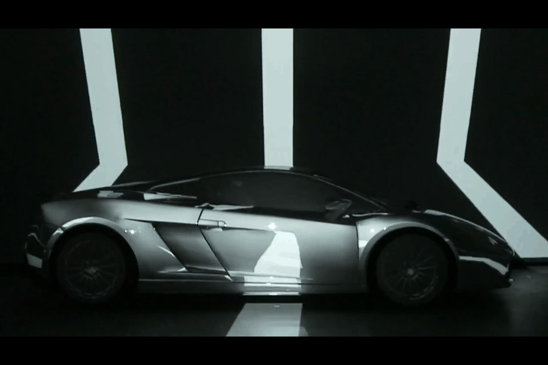 Projection mapping sur Lamborghini Gallardo Superleggera par Amethys Technologies