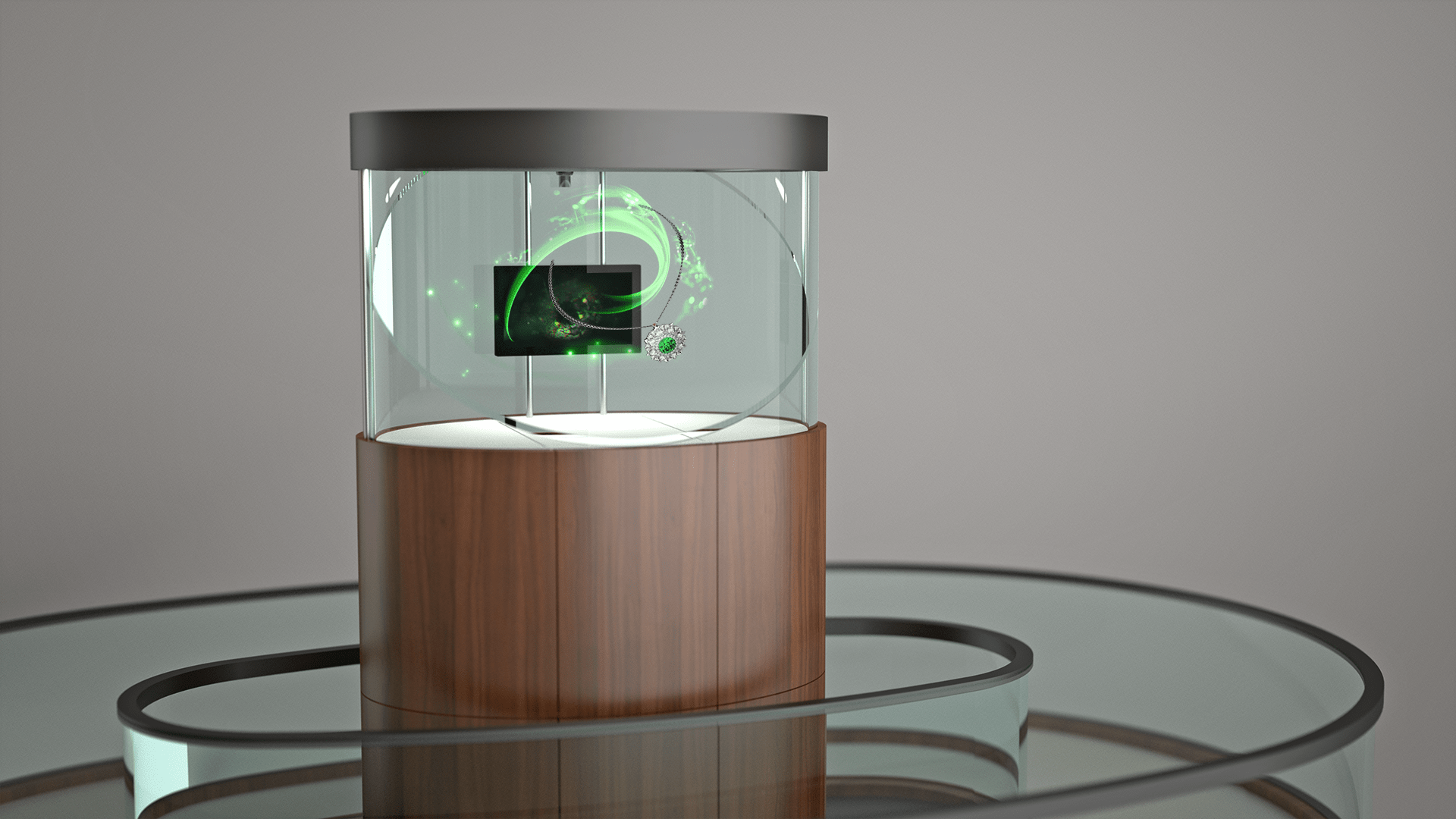 GUBELIN 3D view holographic display and holograms
